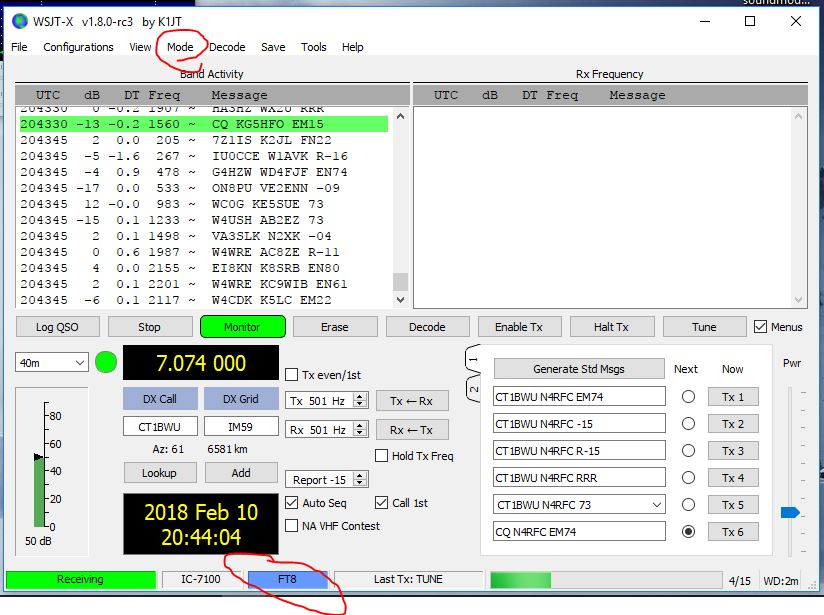 N4RFC COM » Quick Guide to WSJT-X on the Icom IC-7100